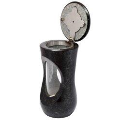Stilvolle Grablampe Classic aus echtem Granit Höhe 25 cm / Ø 12,5 cm