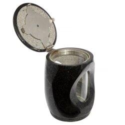 Kleine Grablampe Compact aus echtem Granit Höhe 17 cm / Ø 12,5 cm
