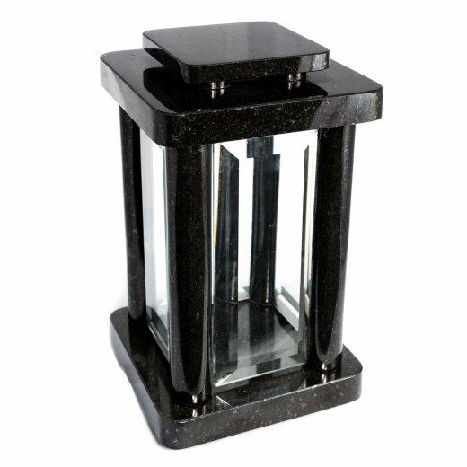 Hochwertige Grablampe Monument aus echtem Granit Höhe 25,5 cm / Breite 14,5 cm / Länge 14,5 cm